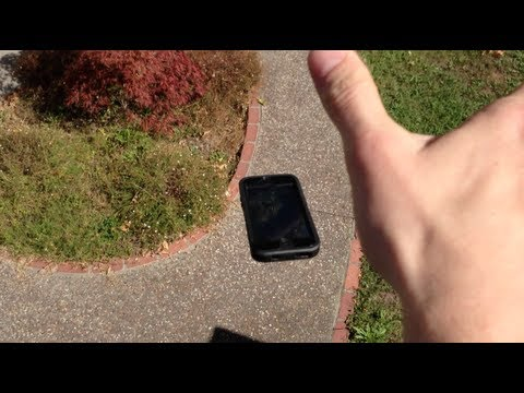 iPhone 5 Dropped From The Roof! - Otterbox Defender Case Review