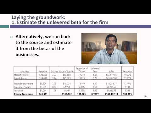 Session 18: Optimal Financing Mix II- The cost of capital approach