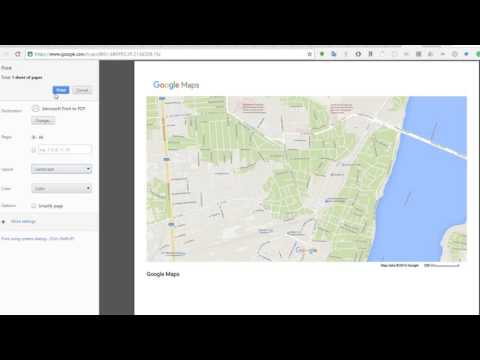 How to get Google Maps layout print to Landscape