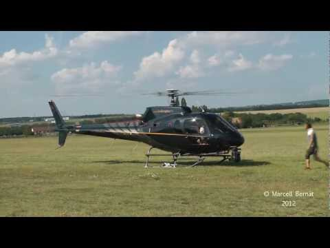 Aerospatiale AS-350 with Cineflex HD v14 camera (landing, startup and takeoff)
