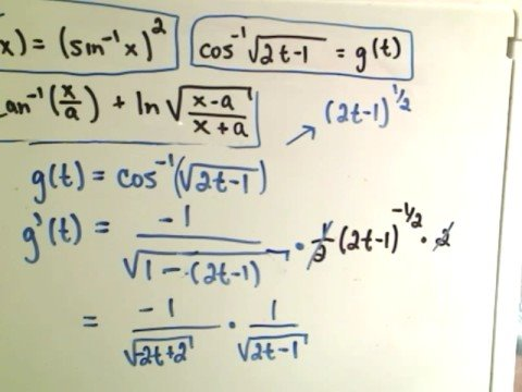 Inverse Trigonometric Functions - Derivatives