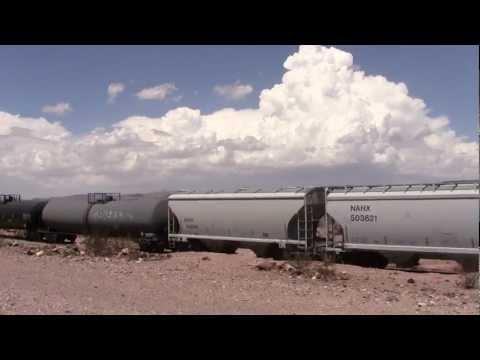 BNSF Needles sub - Manifest train at Ash Hill