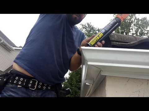 Eavestrough Installation - How We Seal The Corners That Will Never Leak!