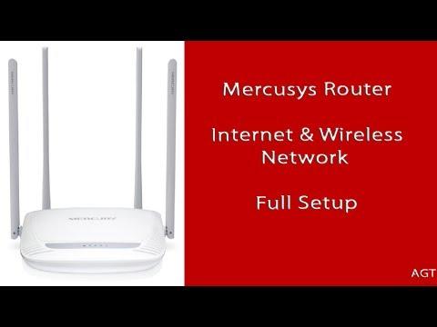 Mercusys Router Internet & Wireless Network Setup (first Use Setup)