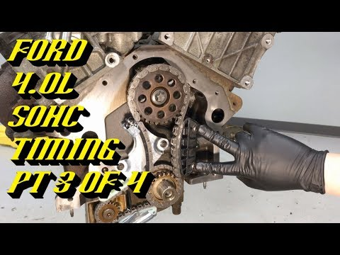 Ford Explorer Ranger 4.0L SOHC Startup Rattle Fix: Timing Walkthrough Pt 3 of 4 Engine Timing