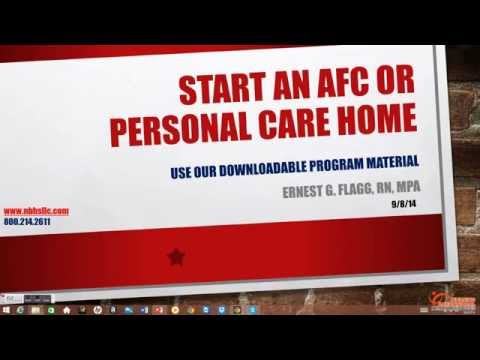 Start an AFC or Personal Care Home: Use Our Downloadable Program Material