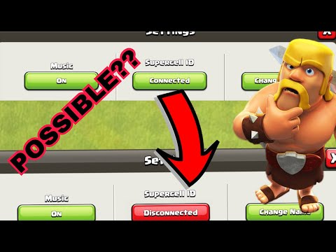 HOW TO DISCONNECT AN ACCOUNT FROM SUPERCELL ID ONCE IT IS CONNECTED || CLASH OF CLANS ||