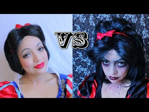 Snow White vs Snow Fright   Halloween Makeup