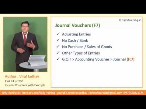 Module 9 | Session 3 | Journal Voucher Entry Example in Tally ERP9 by ExpertTraining.in