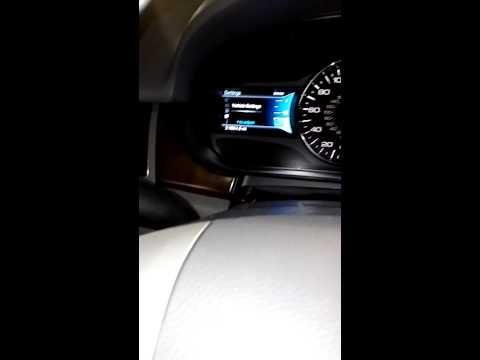 Reset oil life 2013 ford edge process