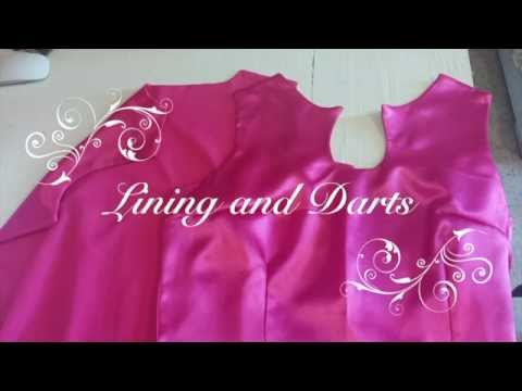♥ How to sew lining and darts ☁