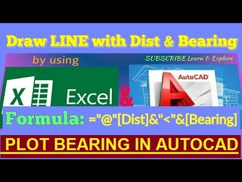 How to Plot Bearing and Distance in AutoCAD using Excel // Land Surveying