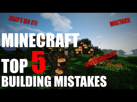 Top 5 Building Mistakes in Minecraft