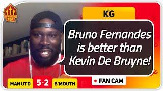 KG! BRUNO Best In LEAGUE! Manchester United 5-2 Bournemouth FanCam