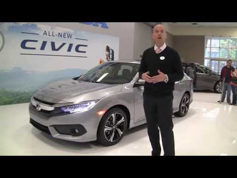 2016 Honda Civic Review - ALL NEW, first public look at Seattle Auto Show