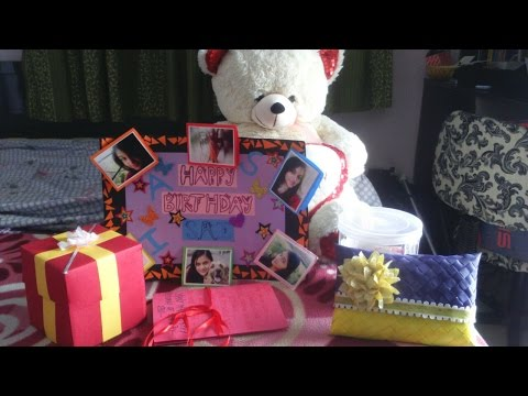 Easy birthday gift ideas | explosion box | greeting | poster
