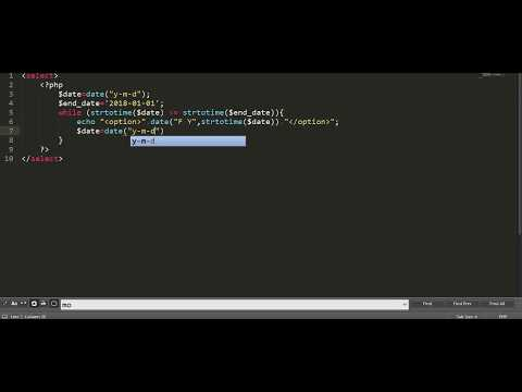 How to print month loop in  php