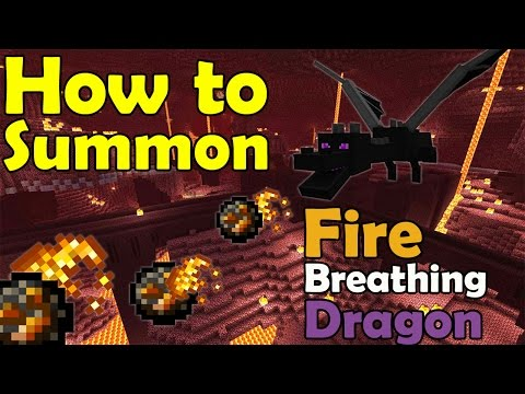 How to Summon a FIRE Breathing Dragon | Minecraft PE (Pocket Edition) MCPE Command Block Trick