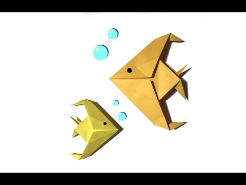Easy Origami Fish - Tutorial - How to make an easy origami Fish