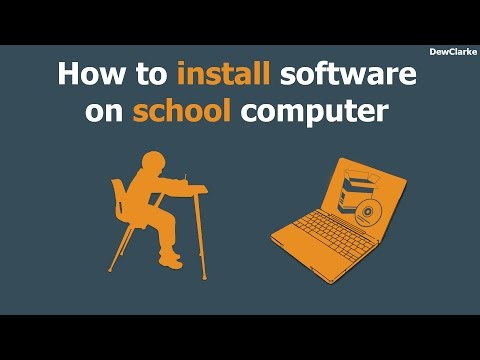How to install software on school computer