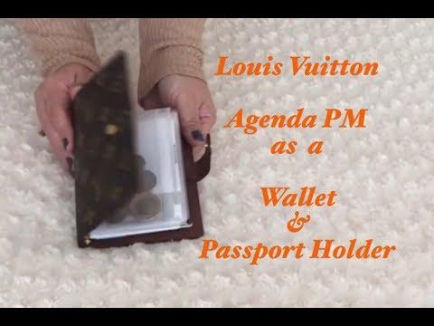 Louis Vuitton Agenda PM as a Wallet & Passport Holder | Travel | Planner | #78