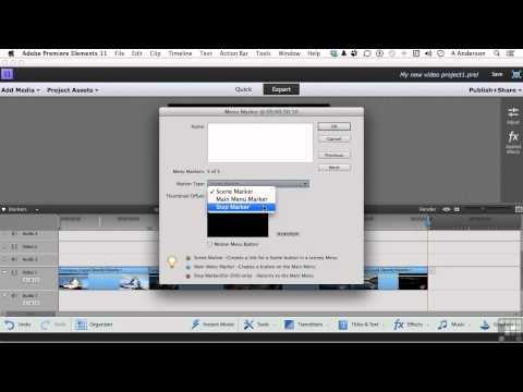 Adobe Premiere Elements 11 Tutorial | Creating A DVD Movie Menu