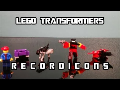 How To Build Lego Transformer Cassettes Recordicons By BX Brix