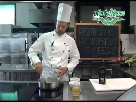 Risotto with champignon puree and black truffles
