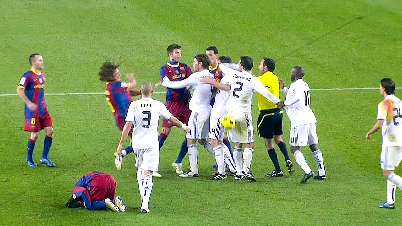 Real Madrid FIGHTS & ANGRY moments