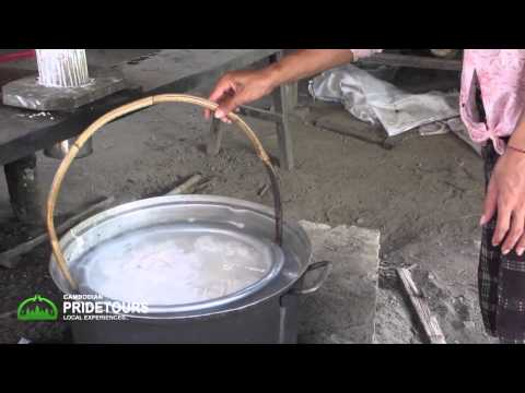Cambodian Rice Noodle Making