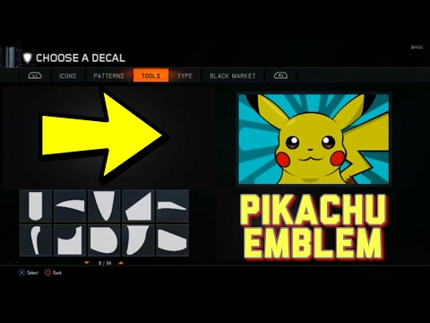 Pikachu Emblem Black Ops 3 Tutorial !