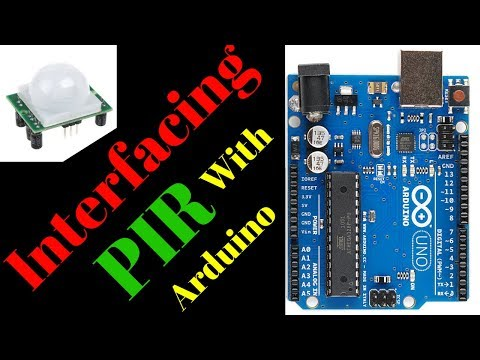 Interfacing PIR sensor with arduino | PIR sensor automatic motion detection light  tutorial