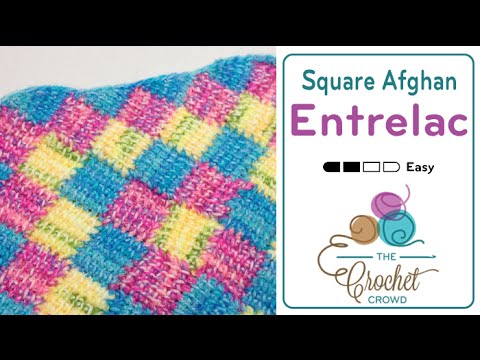 How to Do Tunisian Crochet: Entrelac in a Square Afghan