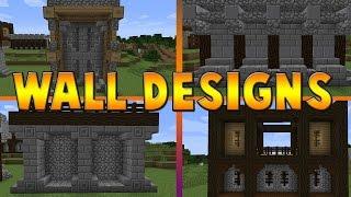 Minecraft Castle Wall Design Tutorial Part 2 The Build