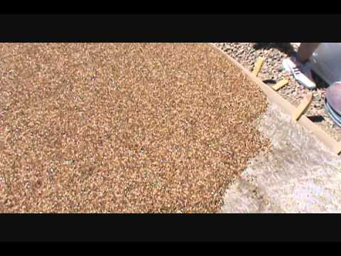 Pebblestone flooring driveway installation