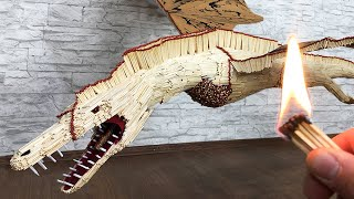 Match Chain Reaction Dragon from matches! Amazing Fire Domino