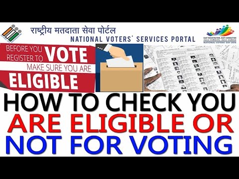How to download voter ID card online & check you are eligible for voting.Check status in Voter List