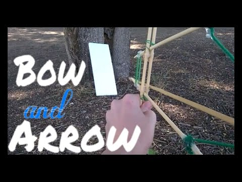 How to make an easy Bow and Arrow from chopsticks and rubber bands.