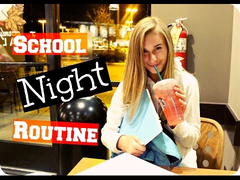 MY SCHOOL NIGHT ROUTINE + Life Hacks & Tips to NOT Run Late!