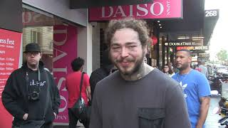 'Post Malone swamped in the middle of Melbourne's CBD' #15MOF