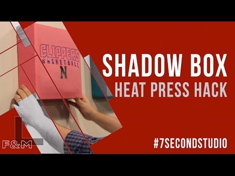 Heat Press Hack: Building a T-shirt Shadow Box Display