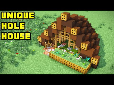 Minecraft: Easy Unique Hole Survival House Tutorial (How to Build)
