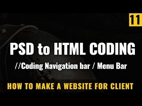 coding menubar and searchbar - How to make a website in Hindi / Urdu