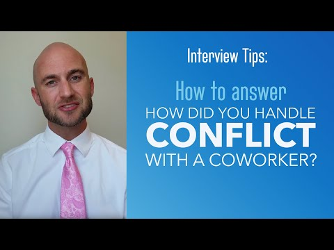 How to answer: How did you handle a conflict with a coworker or supervisor?