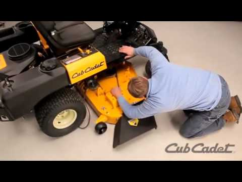 How to Change the Deck Belt on a Cub Cadet Zero Turn Riding Lawn Mower  Using Model 17AI5BHB010