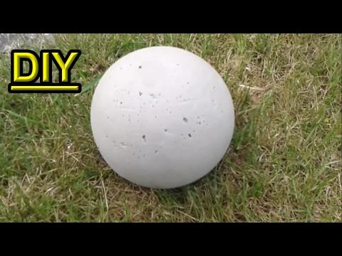 How to make a Concrete Garden Sphere out of a Plastic Ball / DIY Garden Decor Ideas - Tutorial