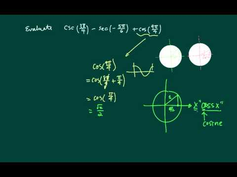 *How to Evaluate Trig Functions: csc, sec and cosine