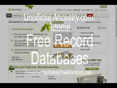 Finding Free Databases on Ancestry.com