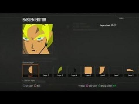 Super Saiyan Goku Black Ops 2 Emblem Editor