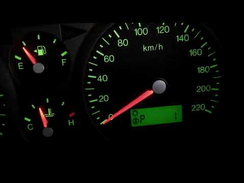 Ba Ford falcon police mode speedo Activated,